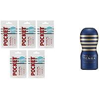 【セット買い】POCKET TENGA ウェイブ ライン 5個入りボックス & テンガ PREMIUM TENGA プレミアム テンガ バキュームカップ スタンダード