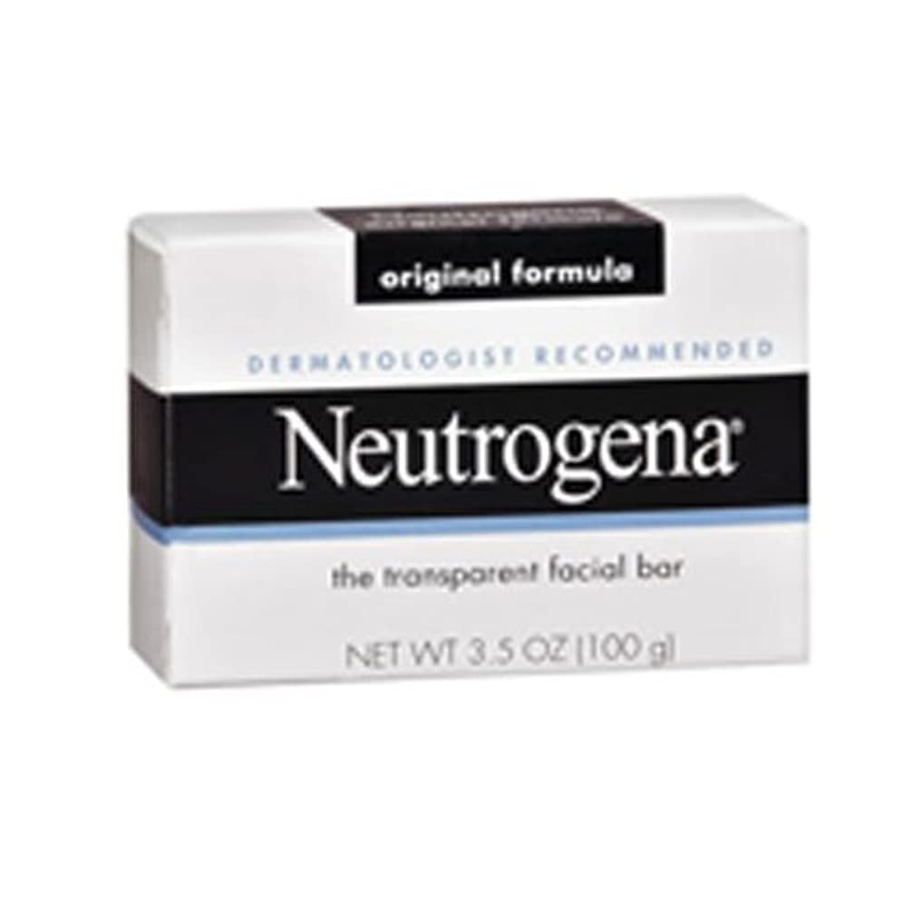 知人ヒント化粧海外直送肘 Neutrogena Transparent Facial Soap Bar, 3.5 oz