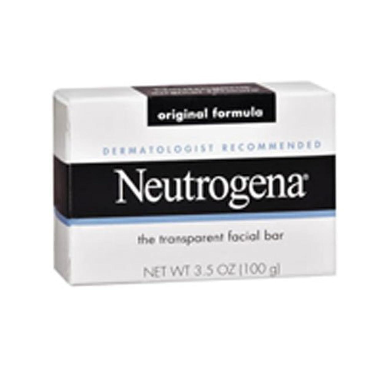 クリア弾力性のある作り上げる海外直送肘 Neutrogena Transparent Facial Soap Bar, 3.5 oz