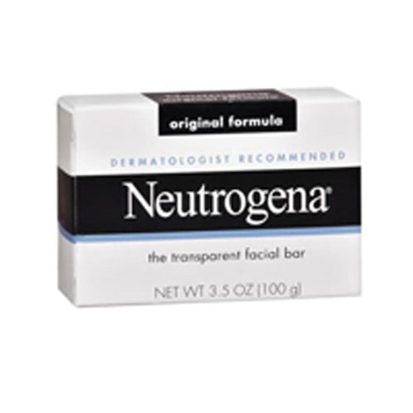自殺グレー銅海外直送肘 Neutrogena Transparent Facial Soap Bar, 3.5 oz