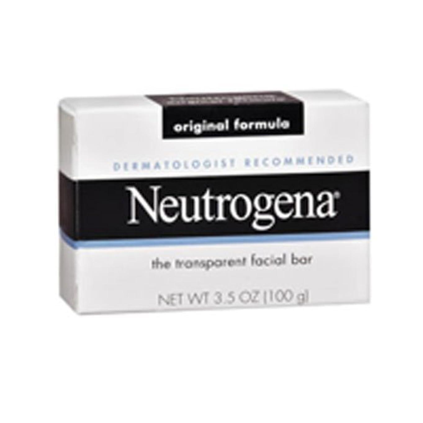 ポンプ浅い反逆者海外直送肘 Neutrogena Transparent Facial Soap Bar, 3.5 oz