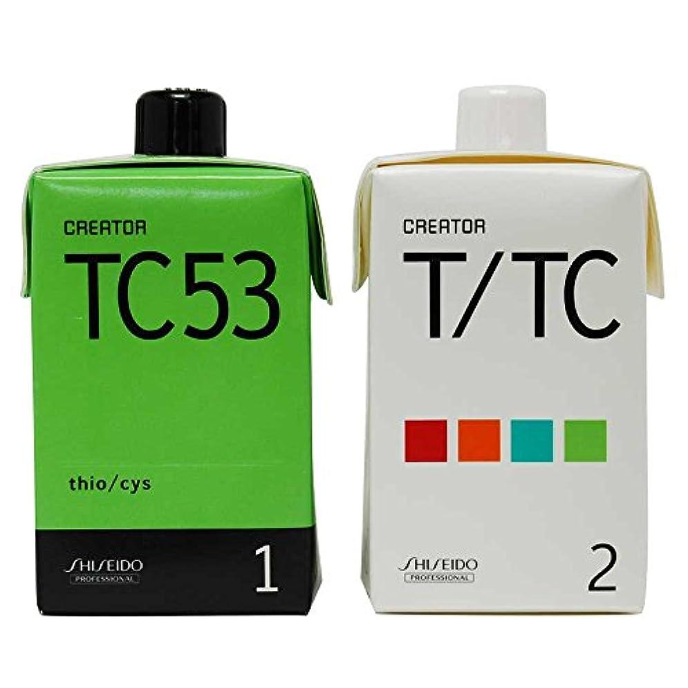 統計的ワードローブ破裂資生堂 クリエイター TC53(プロ用パーマ液?1剤、2剤各400ml)