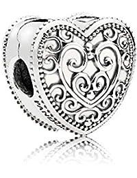 [パンドラ] PANDORA Enchanted Heart クリップ (シルバー) 正規輸入品 797024
