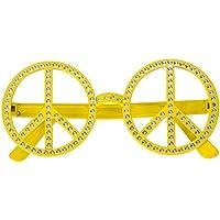 メガネ プラスチック 仮装 子供 大人 目新しい おかしい 目眼鏡 コスチューム 道具 コスプレ用 万聖節 パーティー さまざまなアクセサリー (Yellow Diamond)