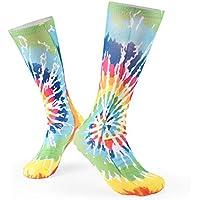 3D Pattern Colorful Tie Dye Sports Long Socks