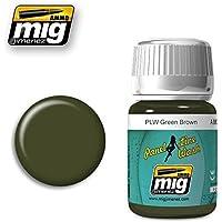 AmmoのMig JimenezパネルラインWashグリーンブラウン35 ml # 1612