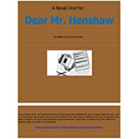 Novel Unit for Dear Mr. Henshaw