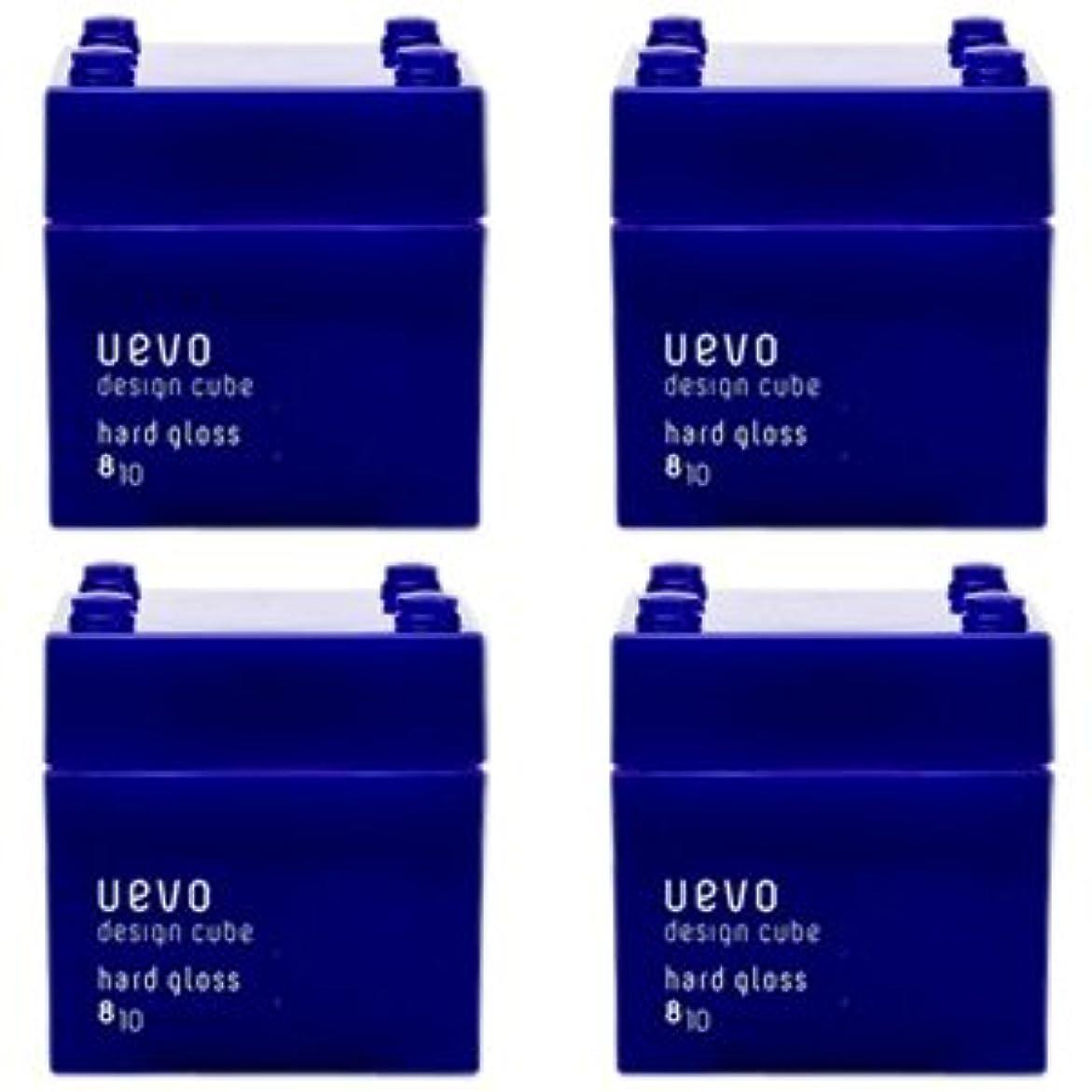 クラウン速報アウター【X4個セット】 デミ ウェーボ デザインキューブ ハードグロス 80g hard gloss DEMI uevo design cube