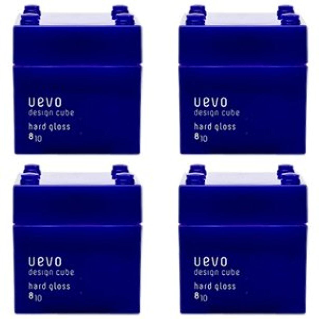 押し下げるバンシャー【X4個セット】 デミ ウェーボ デザインキューブ ハードグロス 80g hard gloss DEMI uevo design cube
