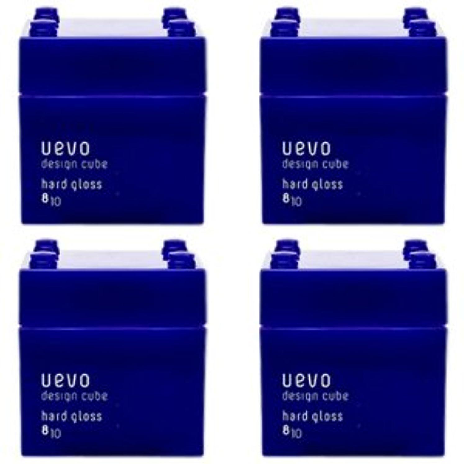 【X4個セット】 デミ ウェーボ デザインキューブ ハードグロス 80g hard gloss DEMI uevo design cube