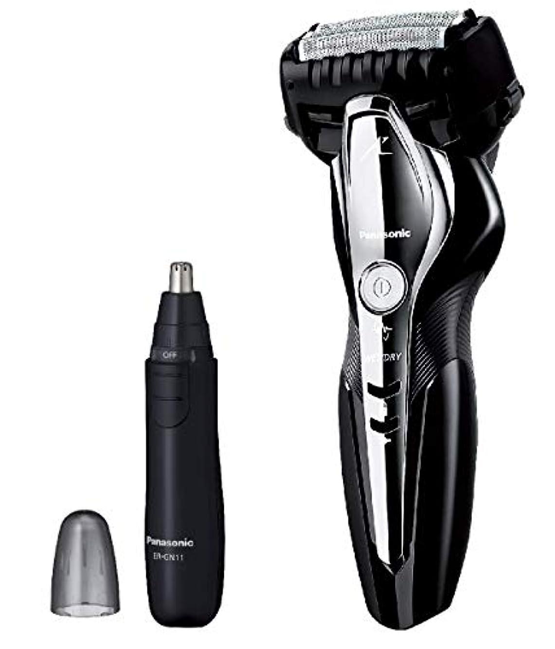 ゆでるトランクライブラリカフェパナソニック ラムダッシュ メンズシェーバー 3枚刃 お風呂剃り可 黒 ES-ST2Q-K + エチケットカッターER-GN11-K セット