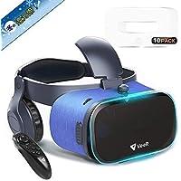 改善版 VeeR 3D VRゴーグル ヘッドホン Bluetoothコントローラ VRゲーム 4.7~6.3インチ iOSアンドロイド iPhonex 6/7/8 plus HUAWEI Xperiaなど 全スマホ機種対応 VRゴーグル用マスク10枚入付属 家族と共有でき 画質アップ