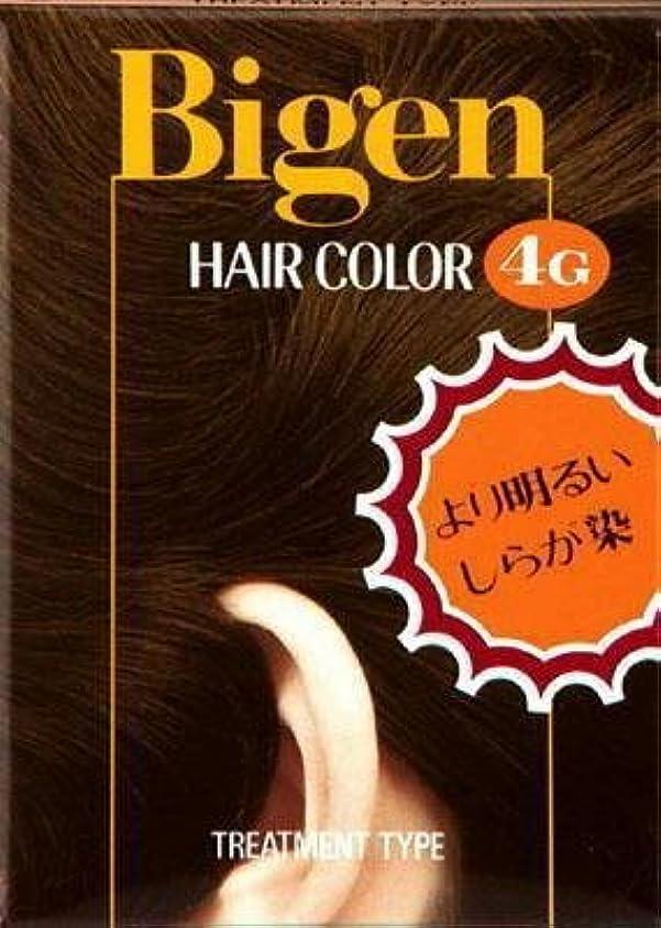 持参チラチラする理容師ビゲン ヘアカラー 4G 自然な栗色 × 10個セット