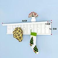 ベッドルームシンプルウォールコートラック、壁掛けハットラック、クリエイティブエントランスシェルフ、ソリッドウッドコートラック (サイズ さいず : B80*13 * 16.5cm)
