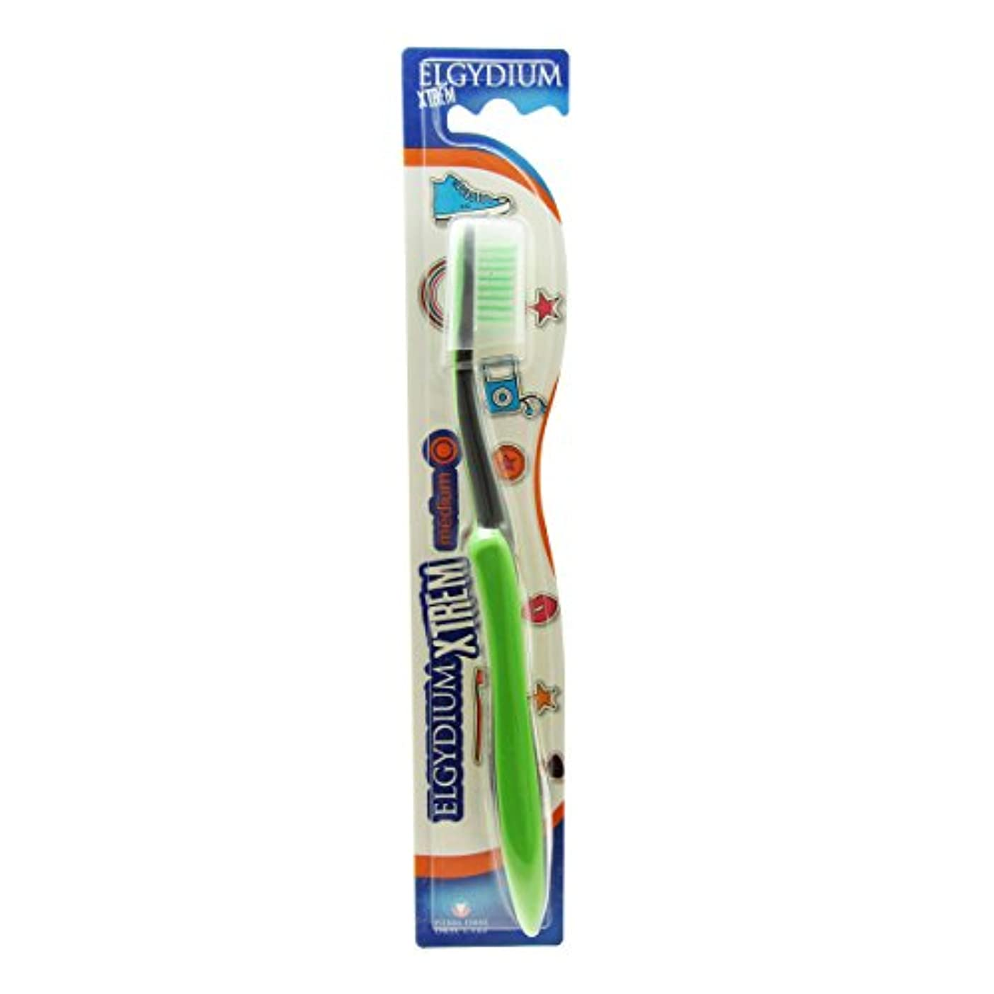 女性ダッシュ民間人Elgydium Xtrem Toothbrush Medium Hardness [並行輸入品]