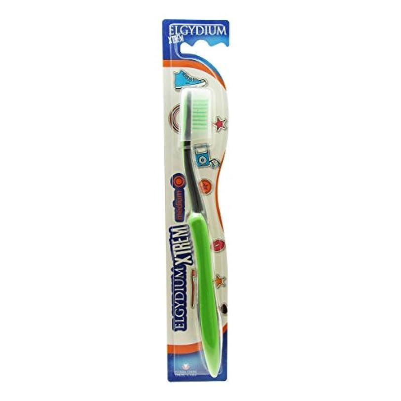 に渡って検出器長椅子Elgydium Xtrem Toothbrush Medium Hardness [並行輸入品]