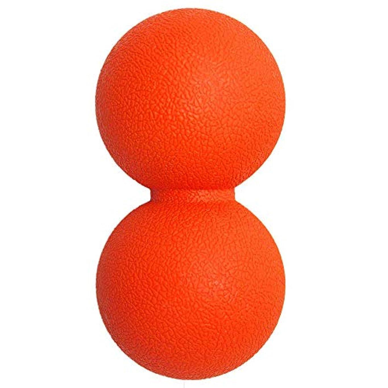 うん刻む容器マッサージボール 筋膜リリースストレッチボール 肩こり 腰 足裏ツボ押しグッズ 背中,オレンジ