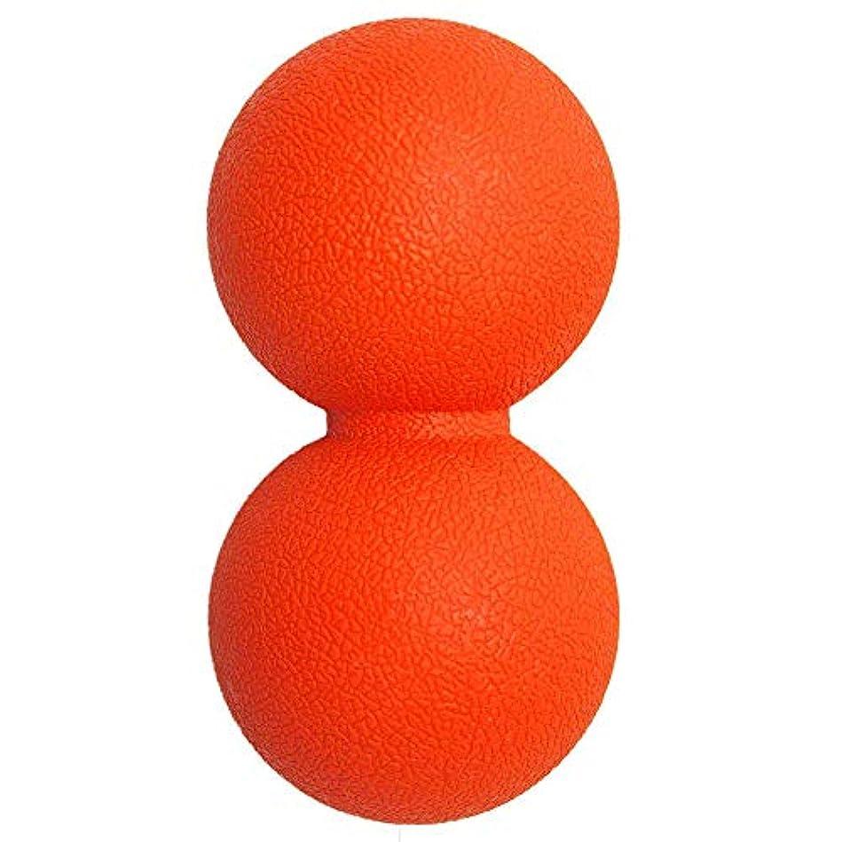 薄暗い充実ギネスマッサージボール 筋膜リリースストレッチボール 肩こり 腰 足裏ツボ押しグッズ 背中,オレンジ
