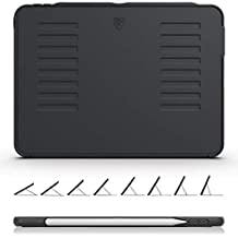 ZUGU CASE The Muse Case - 2018 iPad Pro 11 inch (New Model) - Very Protective But Thin + Convenient Magnetic Stand + Sleep/Wake Cover (Black)