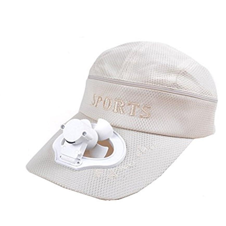 恐怖ビュッフェ構造夏のファン帽子ファン釣りサンバイザーキャップ#L