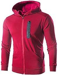 gawaga メンズファッションクイックドライロングスリーブスポーツトレーニングは、フード付きのトレーナーをコート