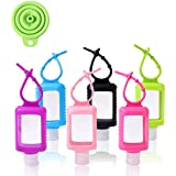 60ml Empty Travel Bottles with Clips 6pcs Portable Plastic Containers and Free Funnel Contain Hand Sanitiser Quickly for Kids and Outgoing Family