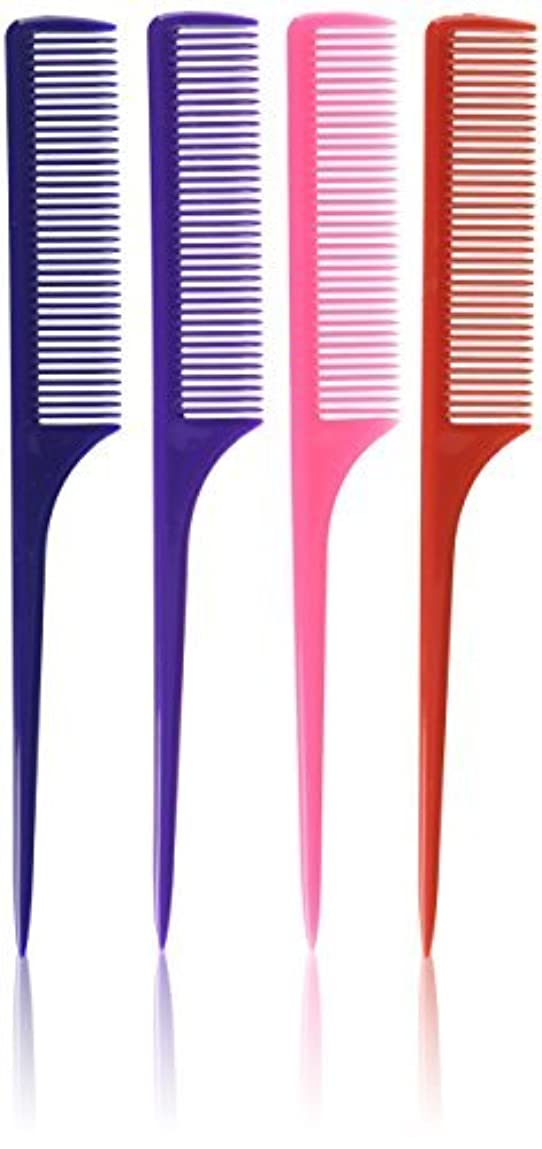 Diane Rat Tail Comb Assorted, 9 Inch, 12 Count [並行輸入品]