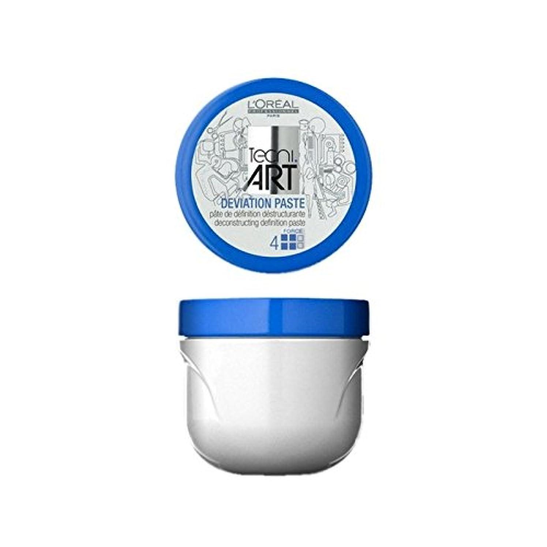 シンボルスリップシューズ長々とロレアルプロフェッショナル技術偏差ペースト(100)に x4 - L'Oreal Professionnel Tecni Art Deviation Paste (100ml) (Pack of 4) [並行輸入品]