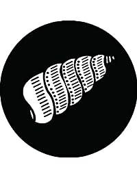 家紋シール 擬宝珠貝紋 布タイプ 直径40mm 6枚セット NS4-0903