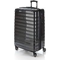 Flylite I-Deluxe 77cm Hard Suitcase Luggage Trolley Black Large
