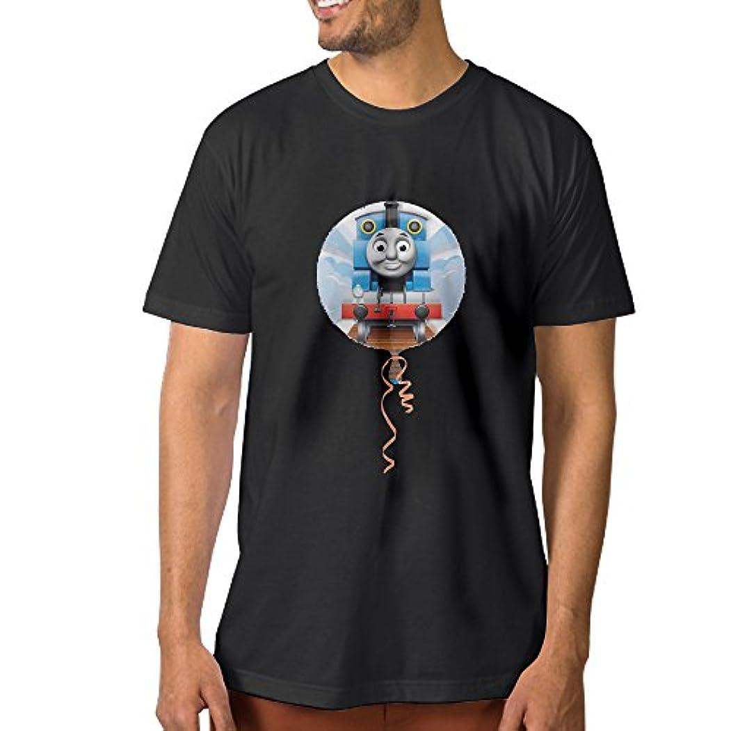 酸化する曇った幸福TAKAL 成人 面白い アニメ きかんしゃトーマス デザイン シャツ 体に合う Black