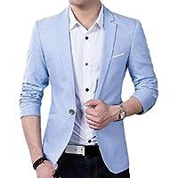 neveraway Men's Lapel Relaxed Fit Slim-Fit Single Button Business Blazer Coats