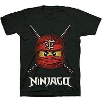 LEGO Ninjago Ready to Battle Face T-Shirt, Boys, Black, Tagless, Size 5/6