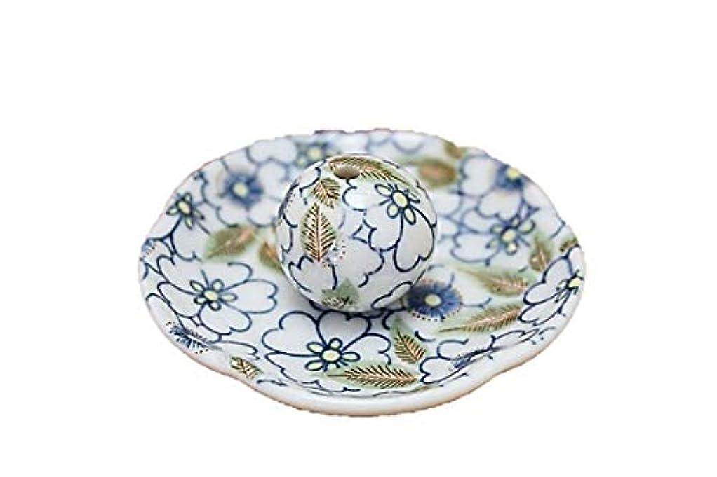 パスタセンチメンタル推論藍華柳 花形香皿 お香立て お香たて 日本製 ACSWEBSHOPオリジナル