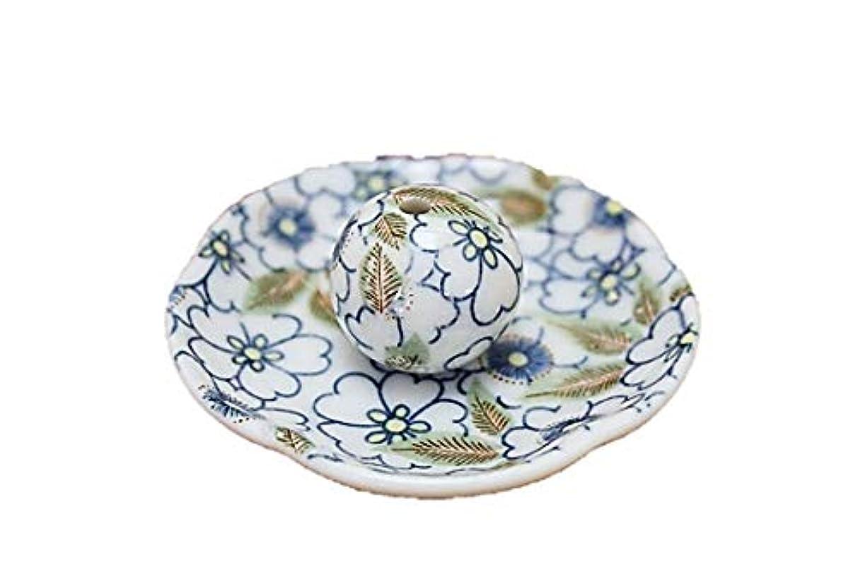 争い組立完全に藍華柳 花形香皿 お香立て お香たて 日本製 ACSWEBSHOPオリジナル
