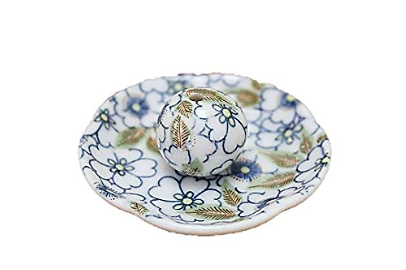 錫ファンド偽藍華柳 花形香皿 お香立て お香たて 日本製 ACSWEBSHOPオリジナル