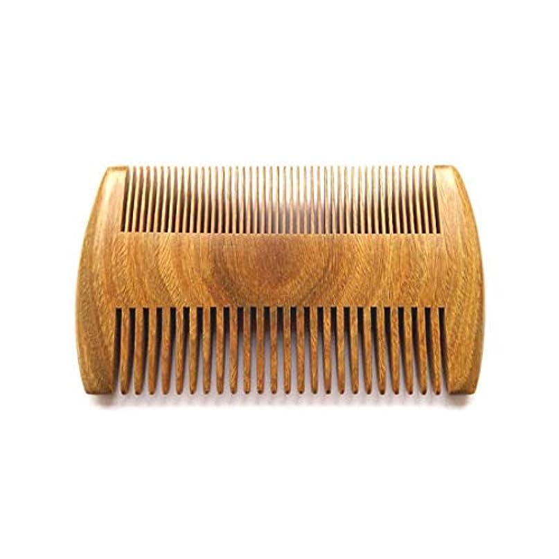 見捨てる創造世紀二重密度の側面のハンドメイドの天然のビャクダンの櫛は頭皮および毛の健康な良い歯および広い歯のために非常に適した Peisui (色 : Wood color)