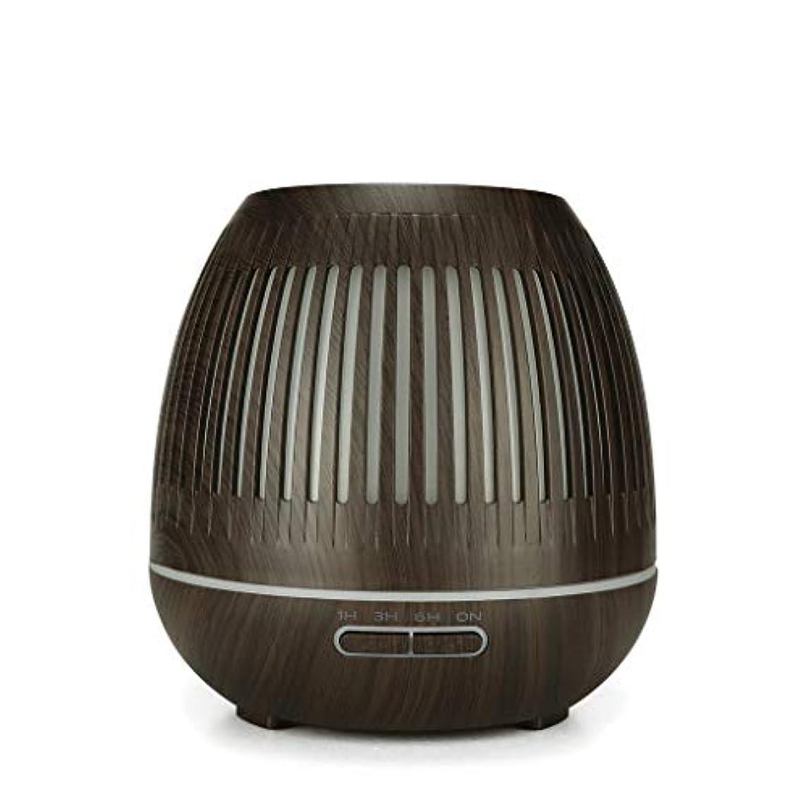 規制ブルームチャールズキージング400ミリリットル超音波クールミスト加湿器付きカラーledライト用ホームヨガオフィススパ寝室ベビールーム - ウッドグレインディフューザー (Color : Dark wood grain)