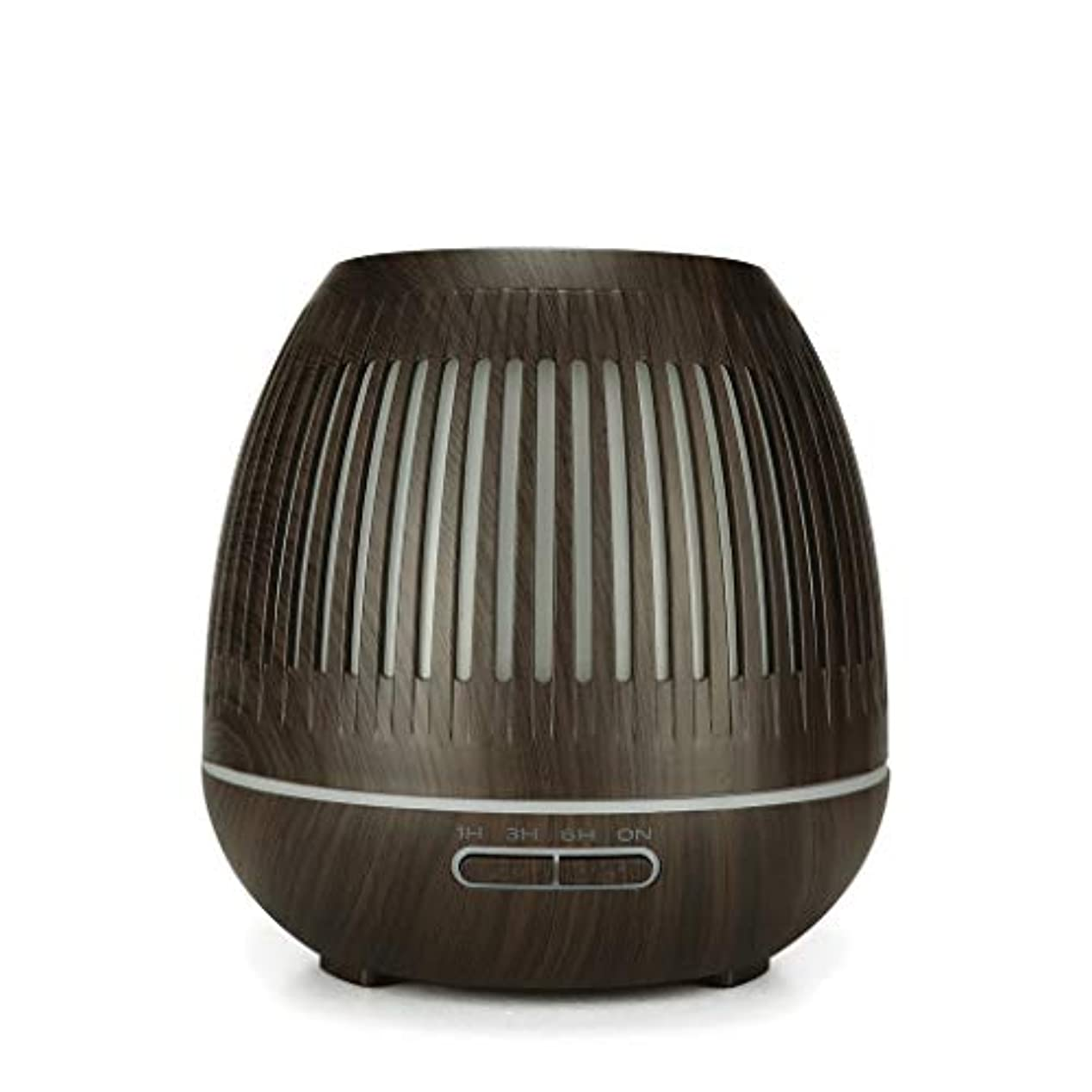 証言するくま粒子400ミリリットル超音波クールミスト加湿器付きカラーledライト用ホームヨガオフィススパ寝室ベビールーム - ウッドグレインディフューザー (Color : Dark wood grain)