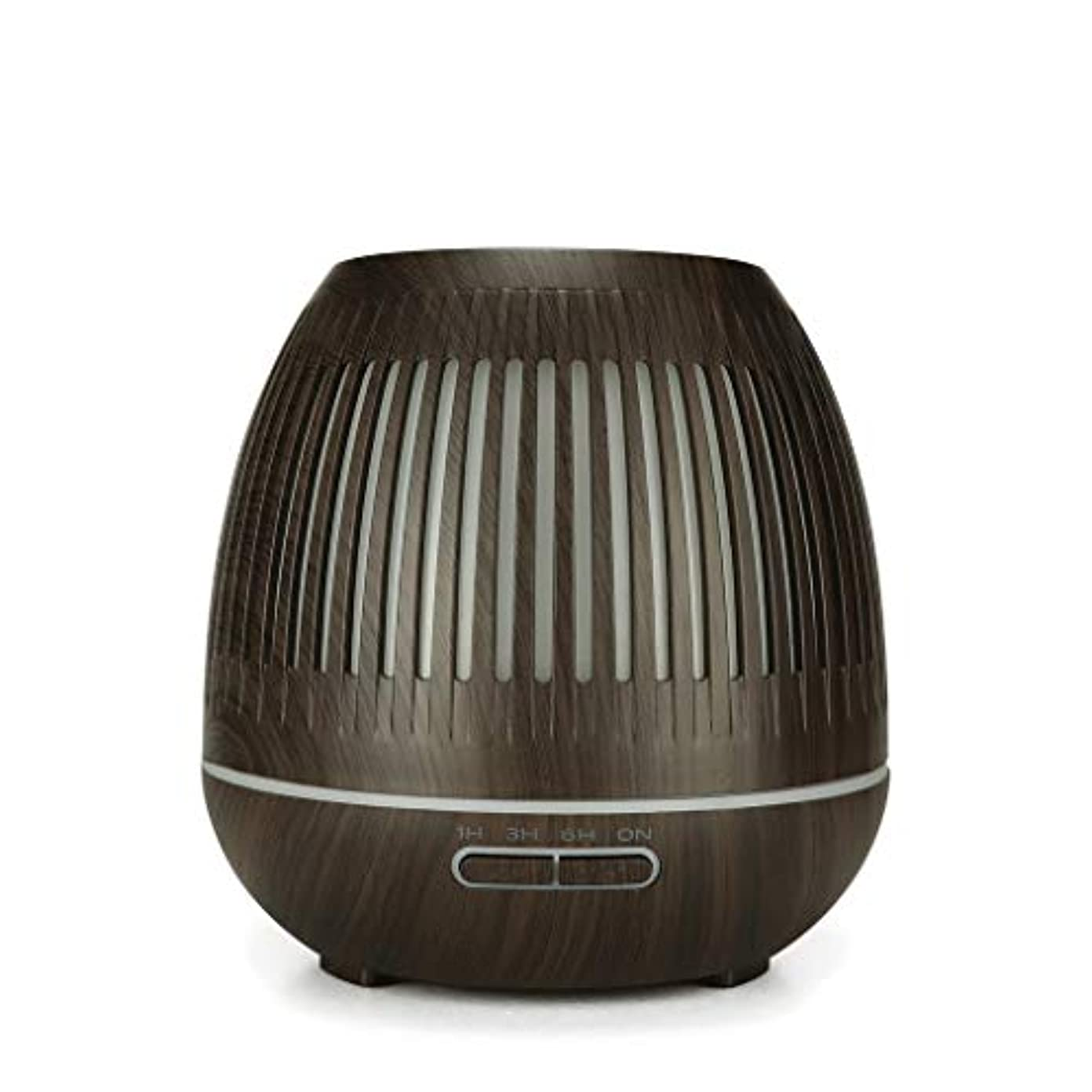 使役喜劇コンドーム400ミリリットル超音波クールミスト加湿器付きカラーledライト用ホームヨガオフィススパ寝室ベビールーム - ウッドグレインディフューザー (Color : Dark wood grain)