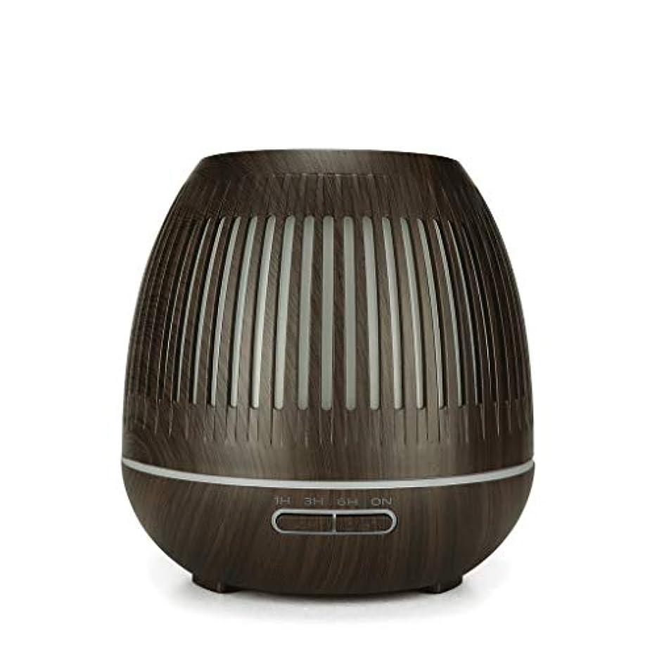 事前に減少抗生物質400ミリリットル超音波クールミスト加湿器付きカラーledライト用ホームヨガオフィススパ寝室ベビールーム - ウッドグレインディフューザー (Color : Dark wood grain)