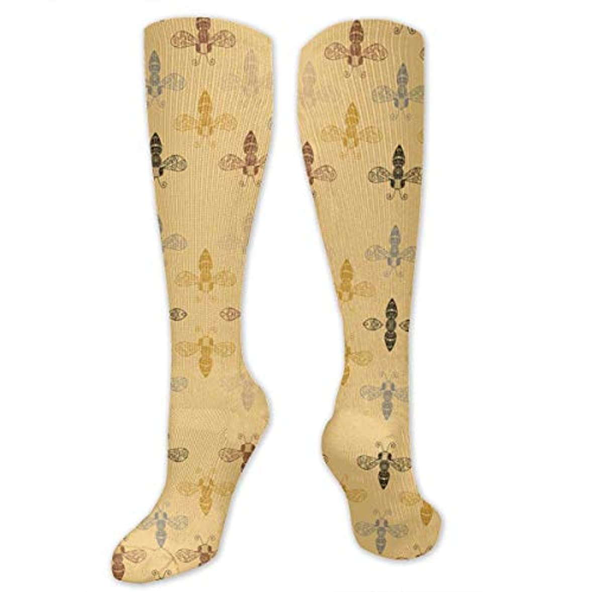 意志ホールドオール無能靴下,ストッキング,野生のジョーカー,実際,秋の本質,冬必須,サマーウェア&RBXAA Ornate Bees with Gap Socks Women's Winter Cotton Long Tube Socks Cotton...