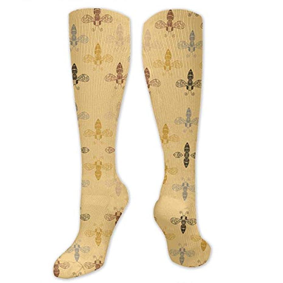 見かけ上識別する夏靴下,ストッキング,野生のジョーカー,実際,秋の本質,冬必須,サマーウェア&RBXAA Ornate Bees with Gap Socks Women's Winter Cotton Long Tube Socks Cotton...