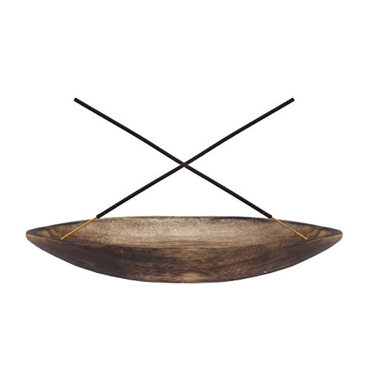 スキニー水曜日反対にgocraftアンティーク木製Incense Ashキャッチャー – 10インチ Boat ブラウン