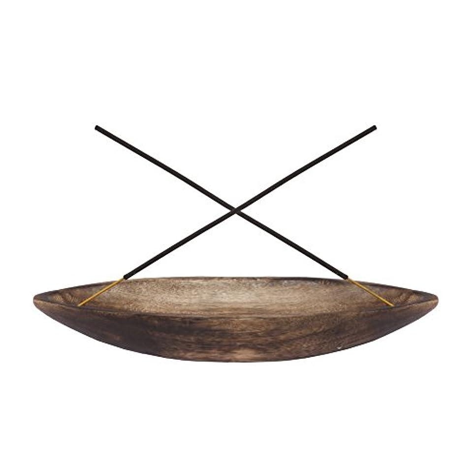gocraftアンティーク木製Incense Ashキャッチャー – 10インチ Boat ブラウン