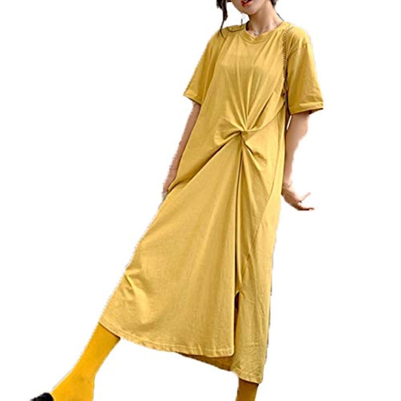 ナチュラル条件付き特徴づける[ココチエ] ワンピース 半袖 ロング 大きいサイズ おおきいサイズ おしゃれ ゆったり 体型カバー