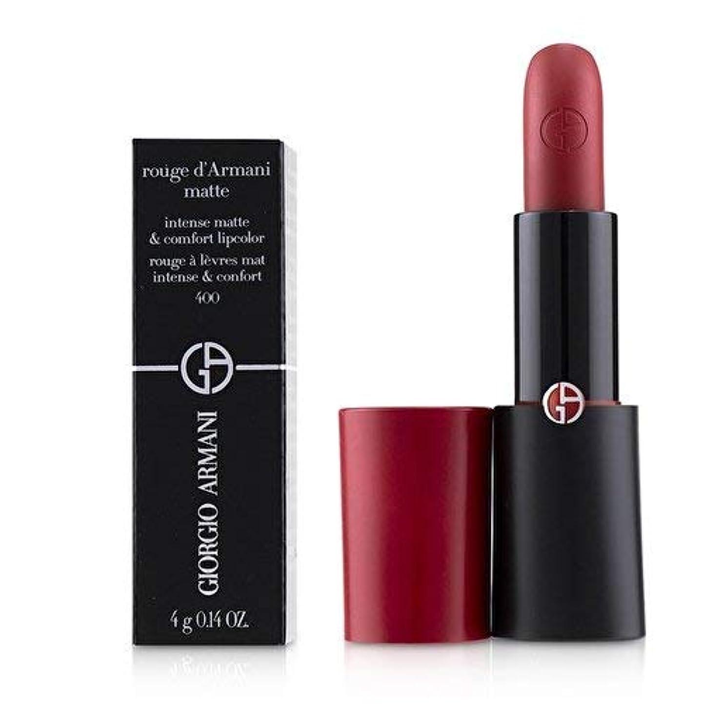 グレード比類のない再撮りジョルジオアルマーニ Rouge D'Armani Matte Intense Matte & Comfort Lipcolor - # 400 Four Hundred 4g/0.14oz並行輸入品