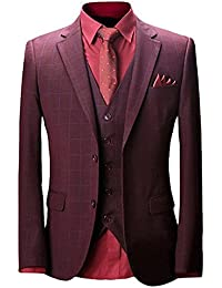 2a4a48dc9b73e Wolfmen スーツ スリーピース メンズ 2つボタン 多色 スリム 防シワ ネクタイ付き ジレベスト ビジネス