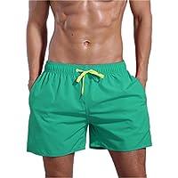 QRANSS Men's Quick Dry Swim Trunks Bathing Suit Beach Shorts