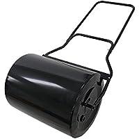ローラー 芝生用鎮圧ローラー スクレイパー付 重量調節 黒 スチール ローラー幅約505mm 最大重量約105kg 転圧ローラー 芝生ローラー DIY 手押し けん引 ガーデンローラー 芝生 芝 庭 手入れ 整地 整備 鎮圧 ガーデニング 目土 種まき ブラック gardenroller03bk